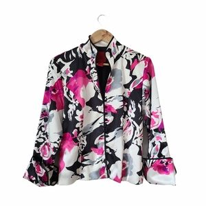 JS COLLECTIONS Jacket Floral White Black Pink